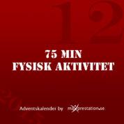 Lucka 12 – 75 min Fysisk aktivitet